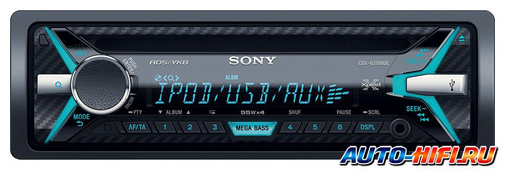 Sony cdx-g3100ue инструкция