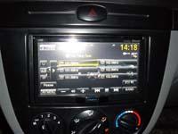 Фотография установки магнитолы JVC KW-AVX840EE в Chevrolet Lacetti