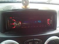 Фотография установки магнитолы Kenwood KMM-357SD в Fiat Doblo