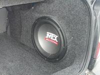 Установка сабвуфера MTX RT12-04 в Hyundai Accent