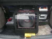 Установка сабвуфера Mac Audio MPX 112 BP в Lada Kalina
