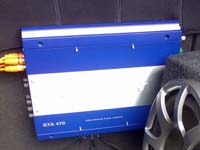 Установка усилителя Blaupunkt GTA 470 в Lada Priora