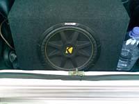 Установка сабвуфера Kicker C15 в VAZ 2107