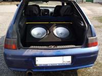 Установка сабвуфера Lightning Audio S4.15.VC2 в VAZ 2112