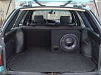 Установка сабвуфера Kenwood KFC-W112S в Volkswagen Passat